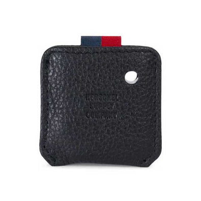 Herschel Supply Co. Key Chain Tile Mate Black Pebbled Leather