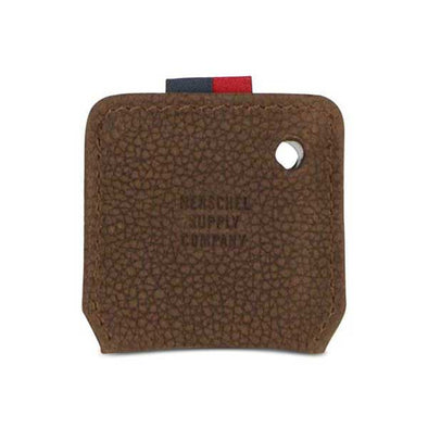 Herschel Supply Co. Key Chain Tile Mate Brown Pebbled Nubuck