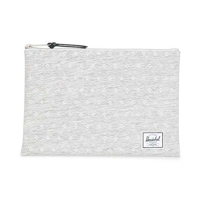 Herschel Supply Co. Network Pouch Large Light Grey Crosshatch/White Dots - Xtreme Boardshop