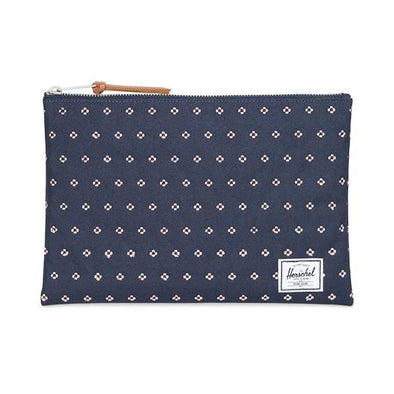 Herschel Supply Co. Network Pouch Large Peacoat/Apricot Blush Dots - Xtreme Boardshop