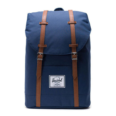 Herschel Supply Co. Retreat Backpack Navy/Tan Synthetic Leather