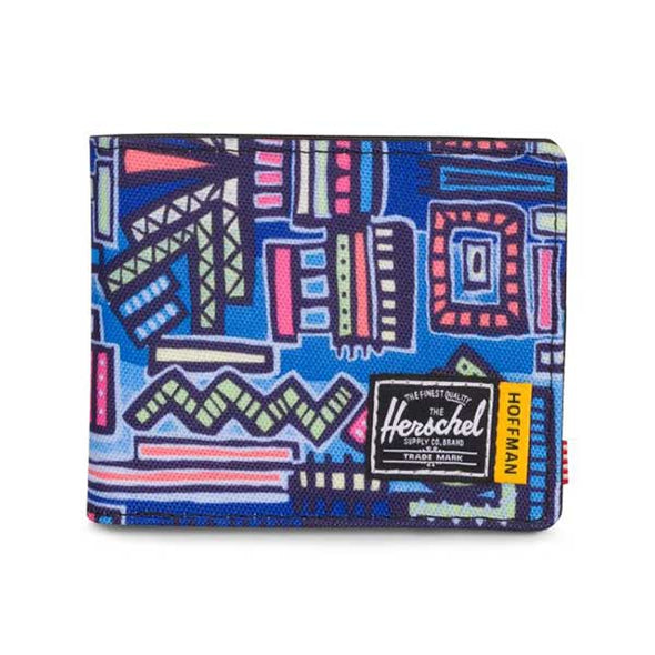 Herschel Supply Co. Roy Wallet Hoffman Collection Abstract Geo Blue