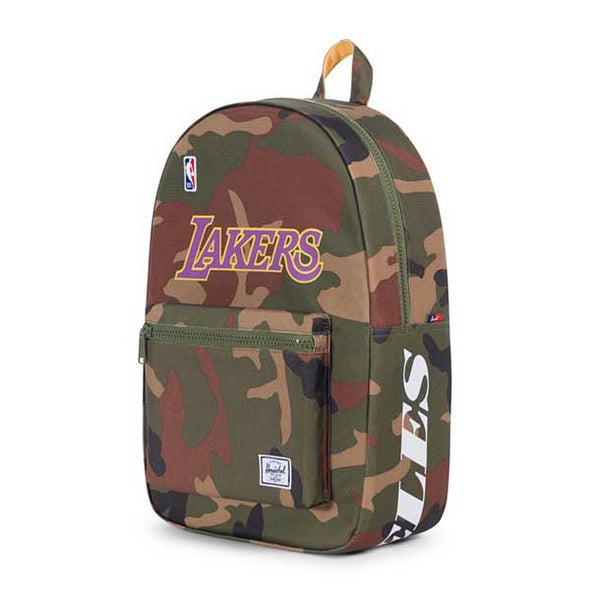 Herschel Supply Co. Settlement Backpack NBA Superfan Los Angeles Lakers/Woodland Camo