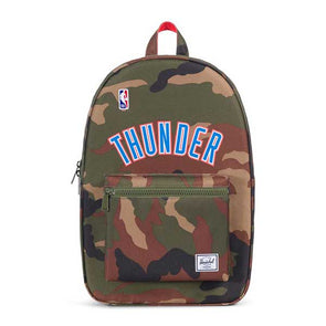 Herschel Supply Co. Settlement Backpack NBA Superfan Oklahoma City Thunder/Woodland Camo