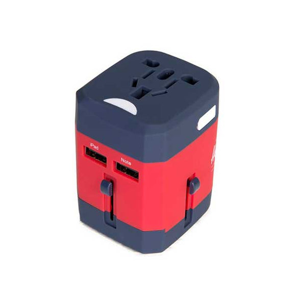 Herschel Supply Co. Travel Adapter Navy/Red