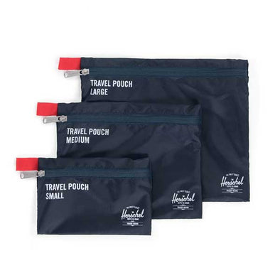 Herschel Supply Co. Travel Pouches Navy/Red