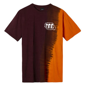 HUF Amp Wash T-Shirt Burgundy