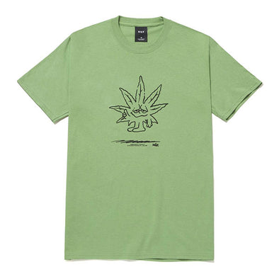 HUF Easy Green T-Shirt Dill Green