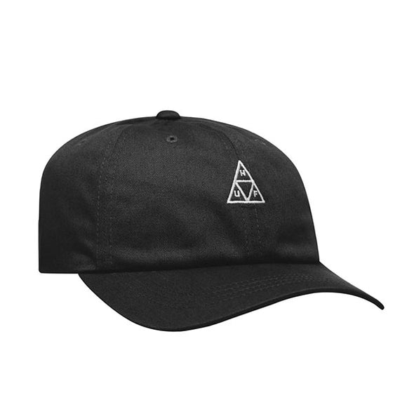 HUF Essentials Triple Triangle Curved Visor Hat Black