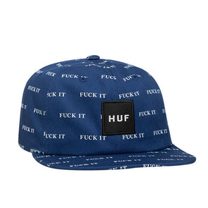 HUF Fuck It 6 Panel Hat Insignia Blue