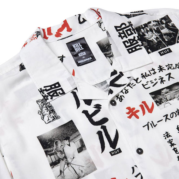 HUF x Kill Bill Short Sleeve Woven Top White
