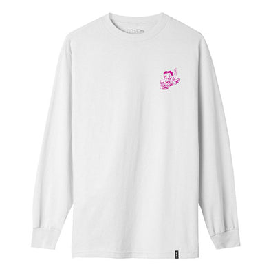 HUF Betty Boop Live Wire Long Sleeve T-Shirt White