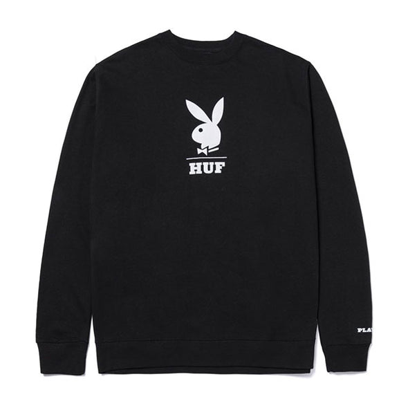 HUF Playboy Logo Crewneck Sweatshirt Black