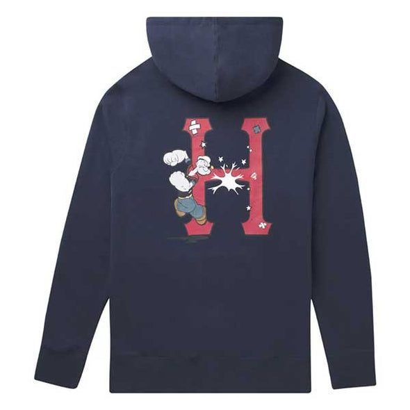 HUF x Popeye Classic H Pullover Hoodie Navy