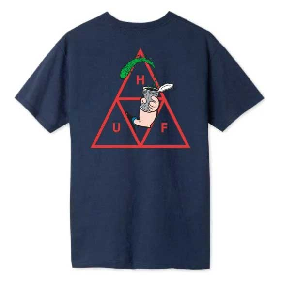 HUF x Popeye Spinach Triple Triangle T-Shirt Navy