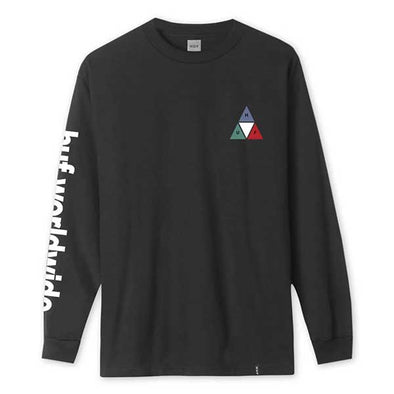 HUF Prism Triple Triangle Long Sleeve Tee Black