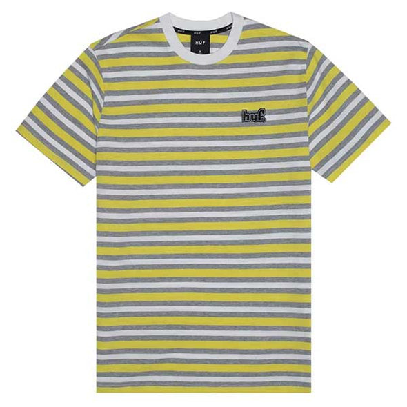 HUF Rockaway Knit Top Shirt Aurora Yellow