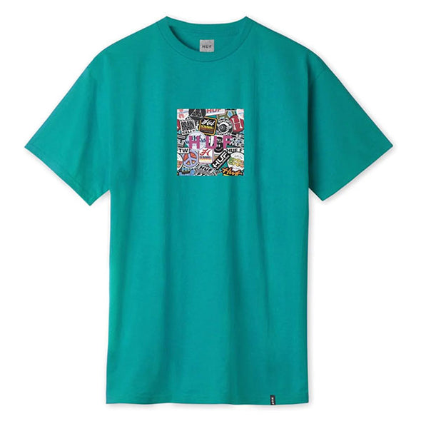 HUF Sticker Wars Box Logo T-Shirt Biscay Bay