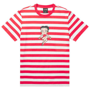 HUF Stripe Betty Boop Knit Top Red