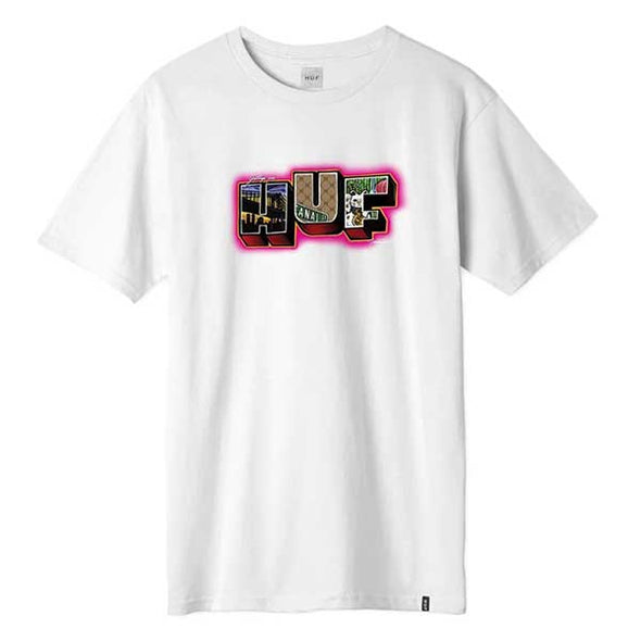HUF Town Short Sleeve Tee White