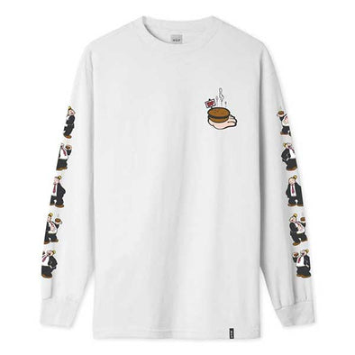 HUF x Popeye Wimpy Long Sleeve T-Shirt White
