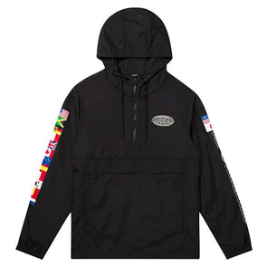 HUF World Tour Anorak jacket Black