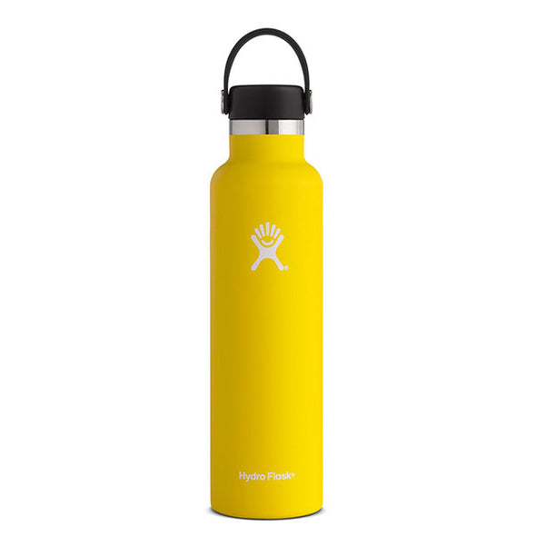 Hydro Flask Standard Mouth 24 oz Insulated Water Bottle Lemon