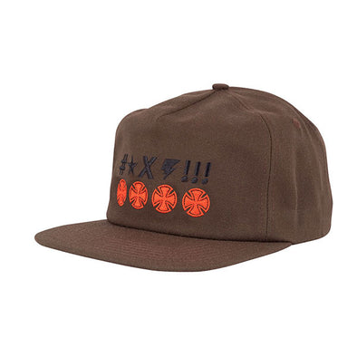 Independent Ante Crosses Snapback Brown