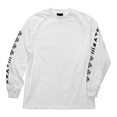 Independent Ante Regular L/S T-Shirt White