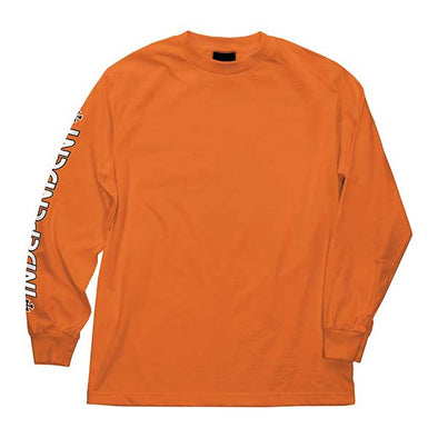 Independent Bar/Cross Regular L/S T-Shirt Orange