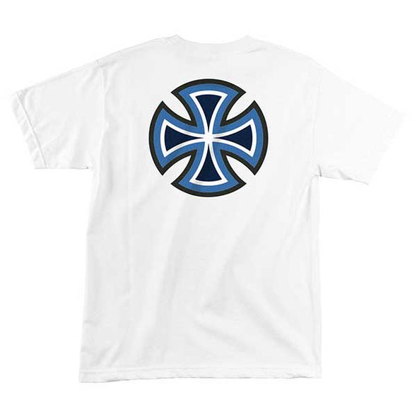 Independent B/C Primary Regular S/S T-Shirt White/Blue