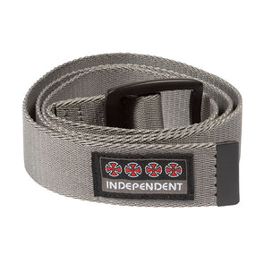 Independent Manner Web Belt Dark Charcoal