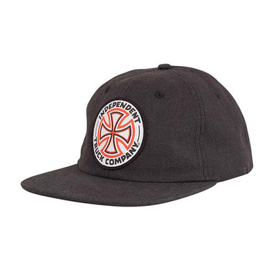 Independent Red White Cross Snapback Black