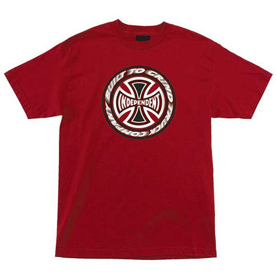 Independent T/C Blaze Regular S/S T-Shirt Cardinal
