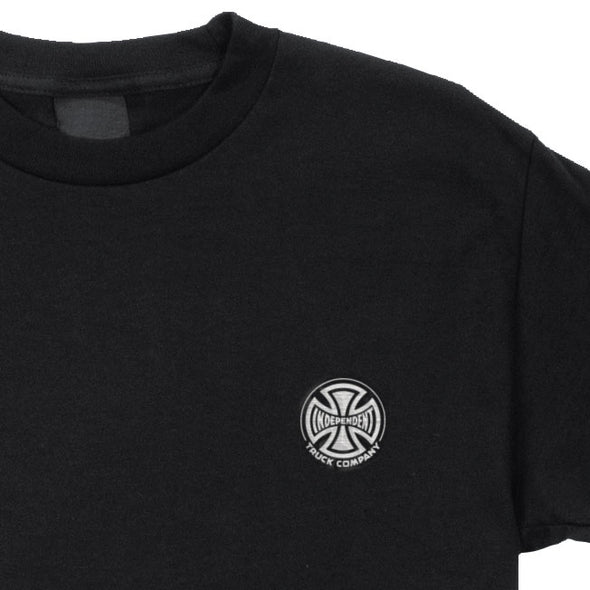 Independent Truck Co. Embroidery Regular S/S T-Shirt Black