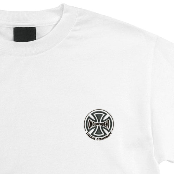 Independent Truck Co. Embroidery Regular S/S T-Shirt White