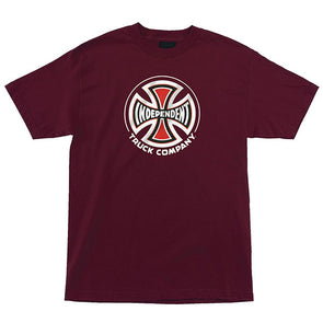 Independent Truck Co Regular S/S T-Shirt Burgundy