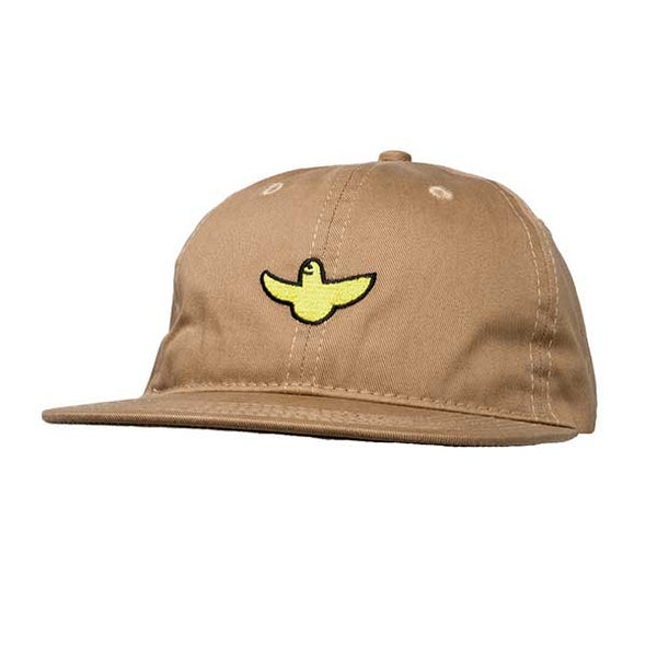 Krooked OG Bird Embroidered Strapback Hat Khaki - Xtreme Boardshop