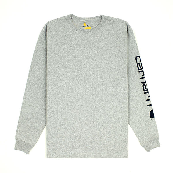 Carhartt Workwear L/S Graphic Logo Heather Gray