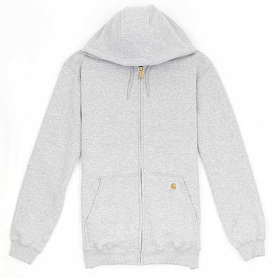 Carhartt Midweight Hooded Zip-Front Sweatshirt Heather Grey
