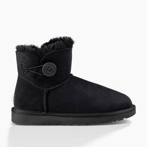 UGG Women's Mini Bailey Button II  (1016422) Black - Xtreme Boardshop