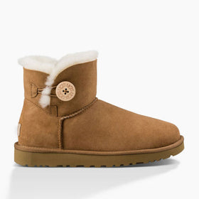 UGG Women's Mini Bailey Button II  (1016422) Chestnut