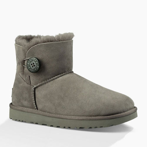 UGG Women's Mini Bailey Button II  (1016422) Grey - Xtreme Boardshop