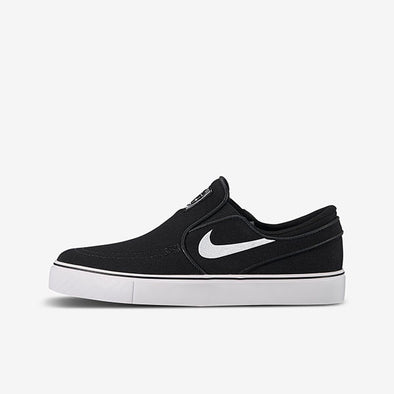 Nike SB Big Kids' Stefan Janoski Canvas Slip-on Black/White