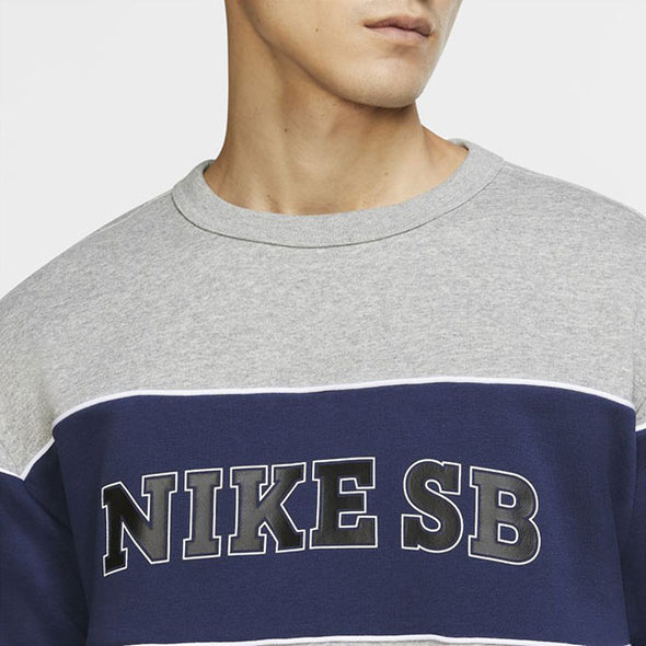 Nike SB HBR Crew Dark Grey Heather/Midnight Navy/Black