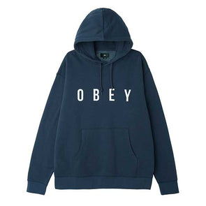Obey Anyway Pullover Hood Heather Navy - Xtreme Boardshop