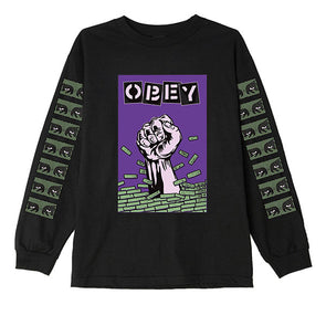 Obey Bust Out Basic LS Tee Black