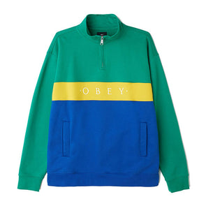 Obey Chelsea Zip Mock Neck Growth Green