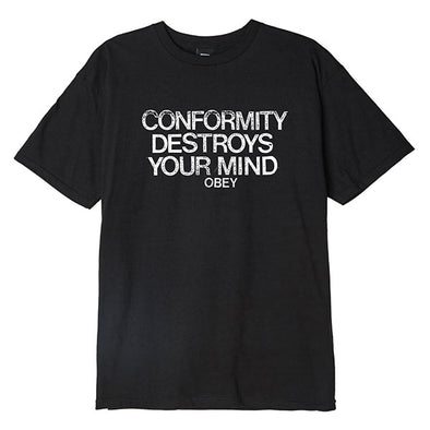 Obey Conformity Destroys Basic Tee Black