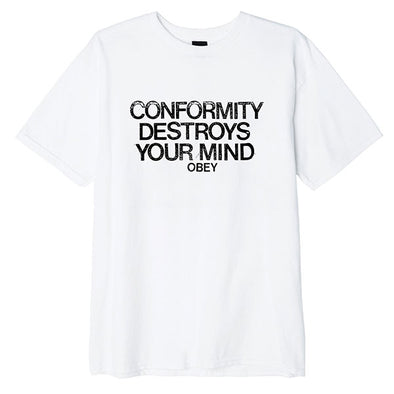 Obey Conformity Destroys Basic Tee White